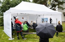 The carbon footprint of an outdoor event is small, but you may need an umbrella.